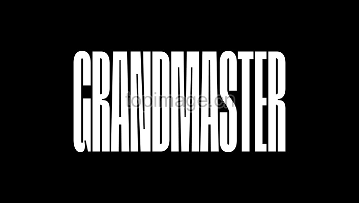 Grandmaster现代工艺行业logo英文字体(含系列字体)