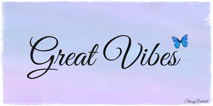 GreatVibes优雅婚纱摄影海报英文字体下载