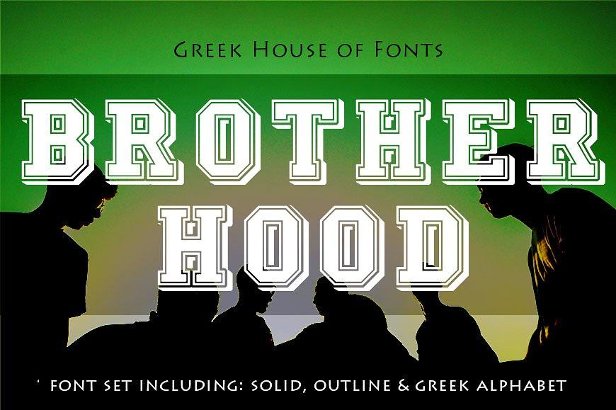GreekHouseBrotherhood球类相关运动海报英文字体下载