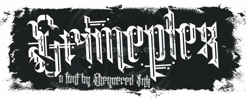 Grimeplex纹身哥特式异形破碎质感个性化英文字体下载