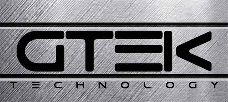 Gtek质感机械行业logo英文字体下载