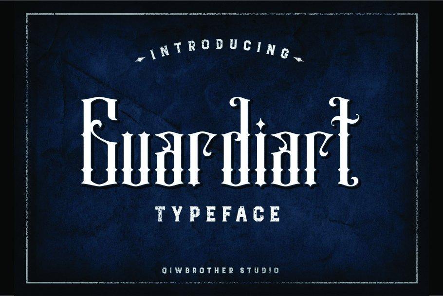 Guardiart哥特纹身logo英文字体下载