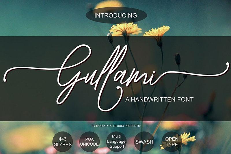 Gullami Rice摄影海报花式英文字体下载