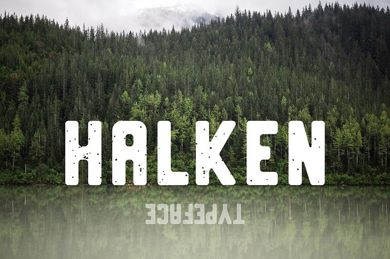 Halken摄影海报粗英文字体下载