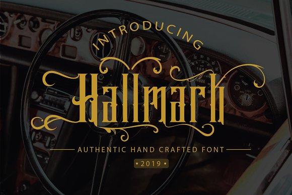 Hallmark哥特复古纹身logo英文字体下载