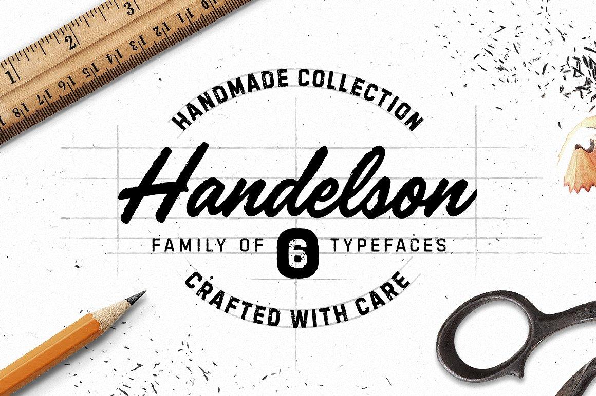 Handelson手写手绘笔触铅笔英文字体下载