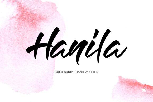 Hanila手写手绘时尚英文字体下载