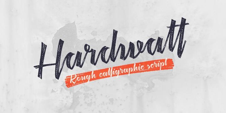 Hardwatt书法英文字体下载