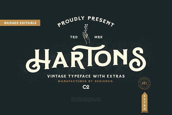Hartons复古个性英文字体下载
