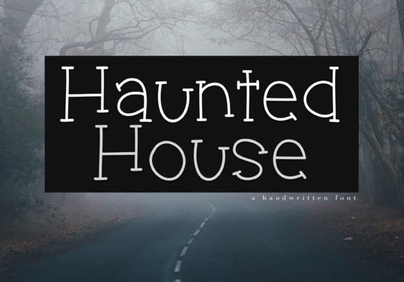haunted House个性衬线手写英文字体下载