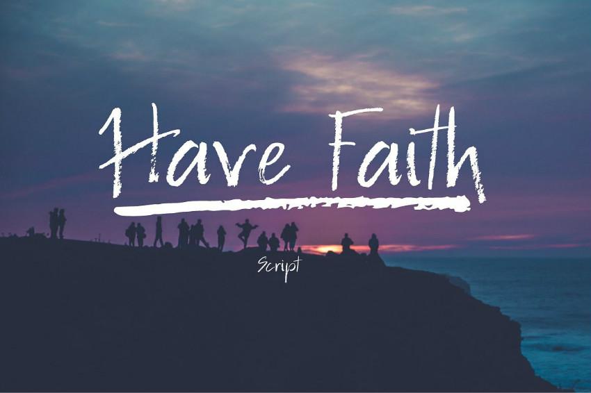 Have Faith手写笔触手绘蜡笔英文字体下载