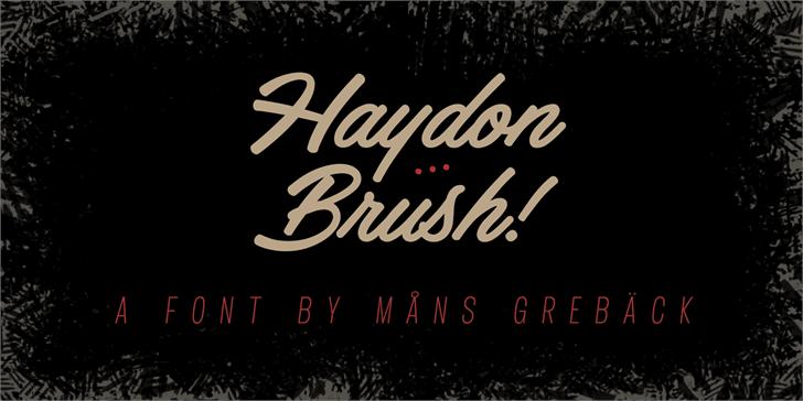 Haydon创意海报手写英文下载