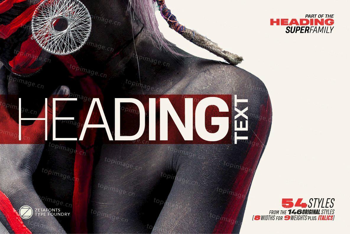 HeadingPro无衬线简洁现代英文字体大全下载