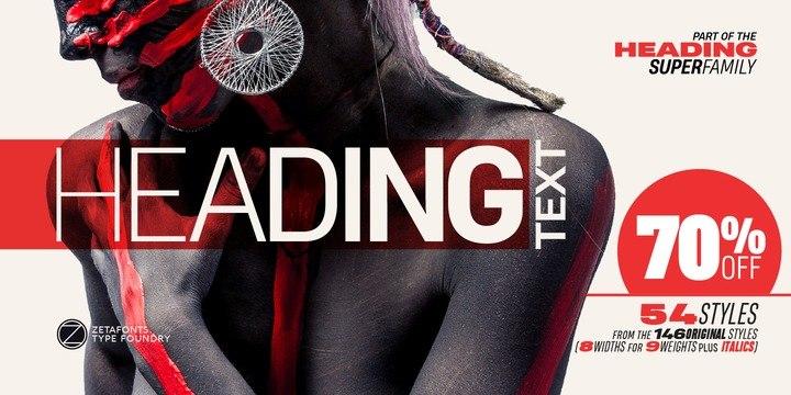 Heading pro 现代无衬线logo排版英文字体下载