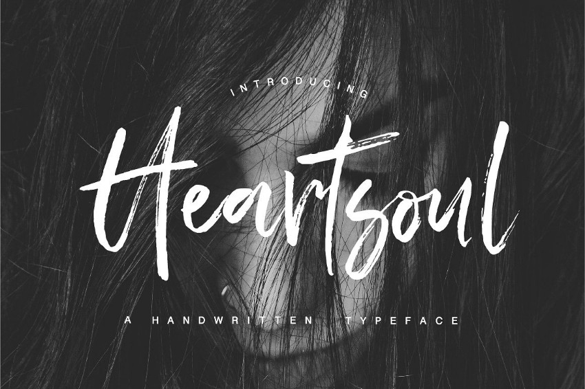 Heartsoul笔刷大气手写英文字体下载