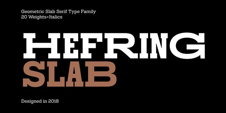 HefringSlab现代衬线logo设计排版40个系列字体大全