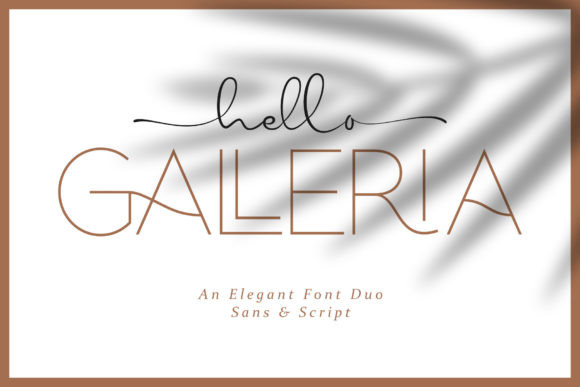 Hello Galleria纤细连笔手写时尚logo英文字体下载