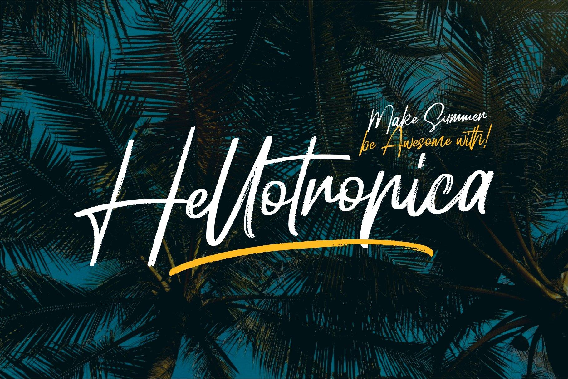 Hellotropica手写笔触书法连笔英文字体下载