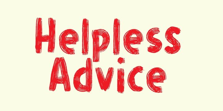 Helpless Advice卡通手绘可爱英文字体下载