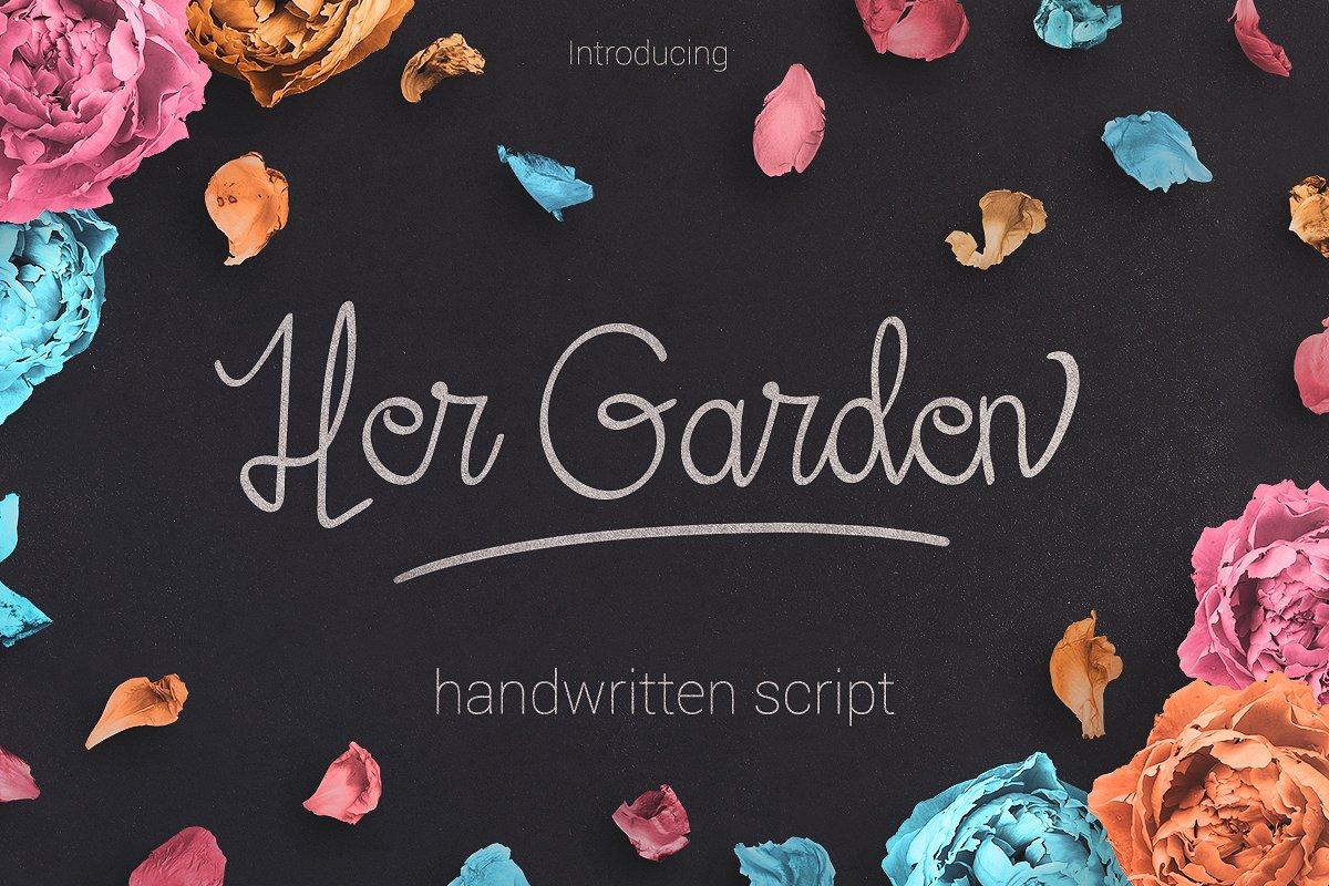 Her Garden手写连笔英文字体下载