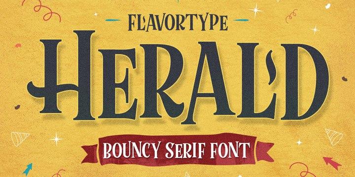 Herald创意衬线标题英文字体下载