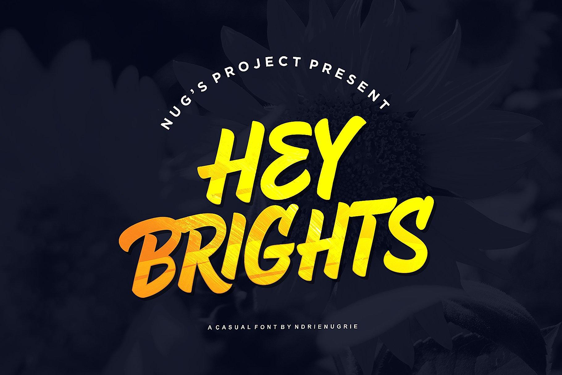 Hey Brights手写手绘时尚英文字体下载