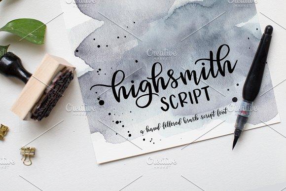 Highsmith手写连笔花体英文字体下载
