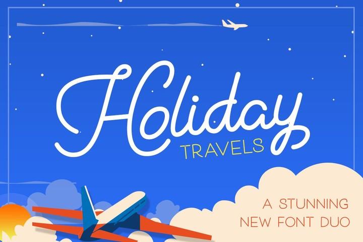 Holiday Travel 假日旅行手写照片水印好看的英文字体下载