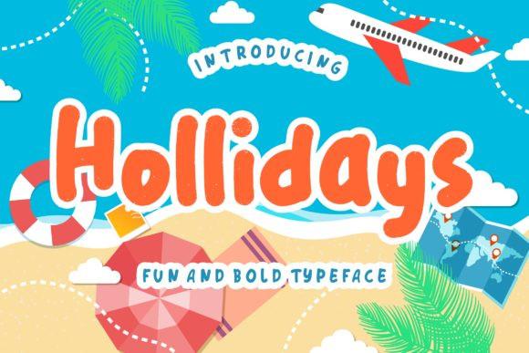 Hollidays节日假期手写英文字体下载