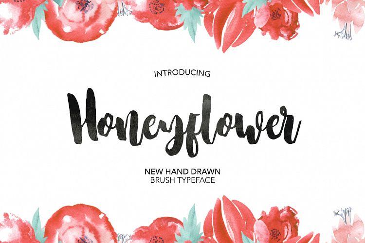 Honeyflower高端手写连体创意时尚海报花式英文字体下载