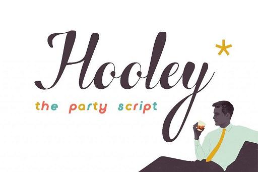 Hooley餐饮手绘连笔高档英文字体下载