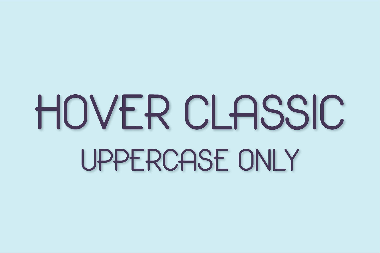 Hover Classic圆润无衬线创意logo设计英文字体下载