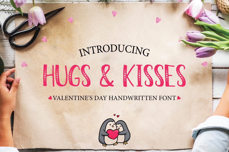 HugsKisses可爱爱心手写手绘个性英文字体下载