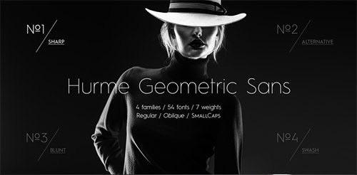 HurmeGeometricSans现代时尚简约排版logo设计家族英文字体