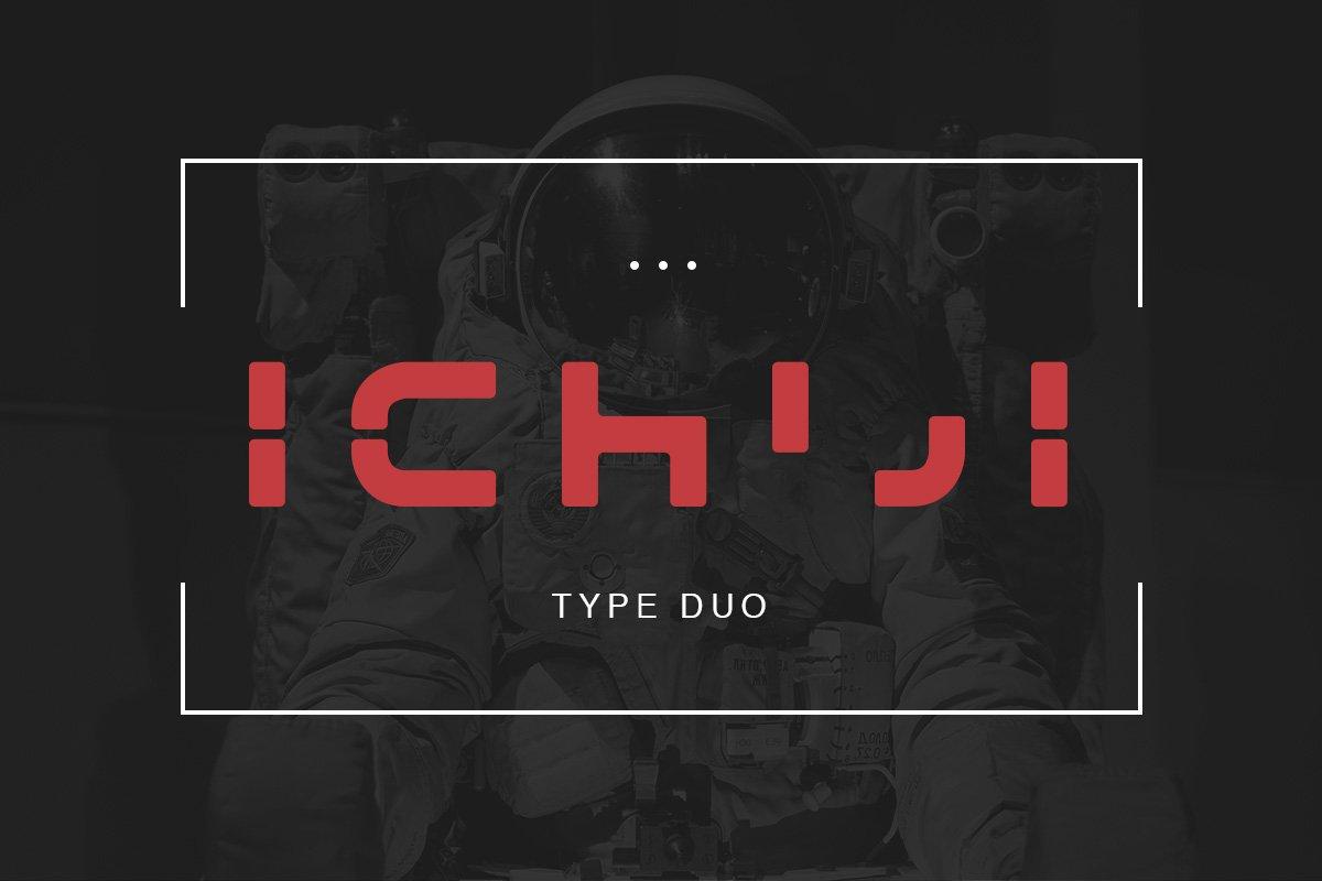 Ichiji现代创意logo科技英文字体下载