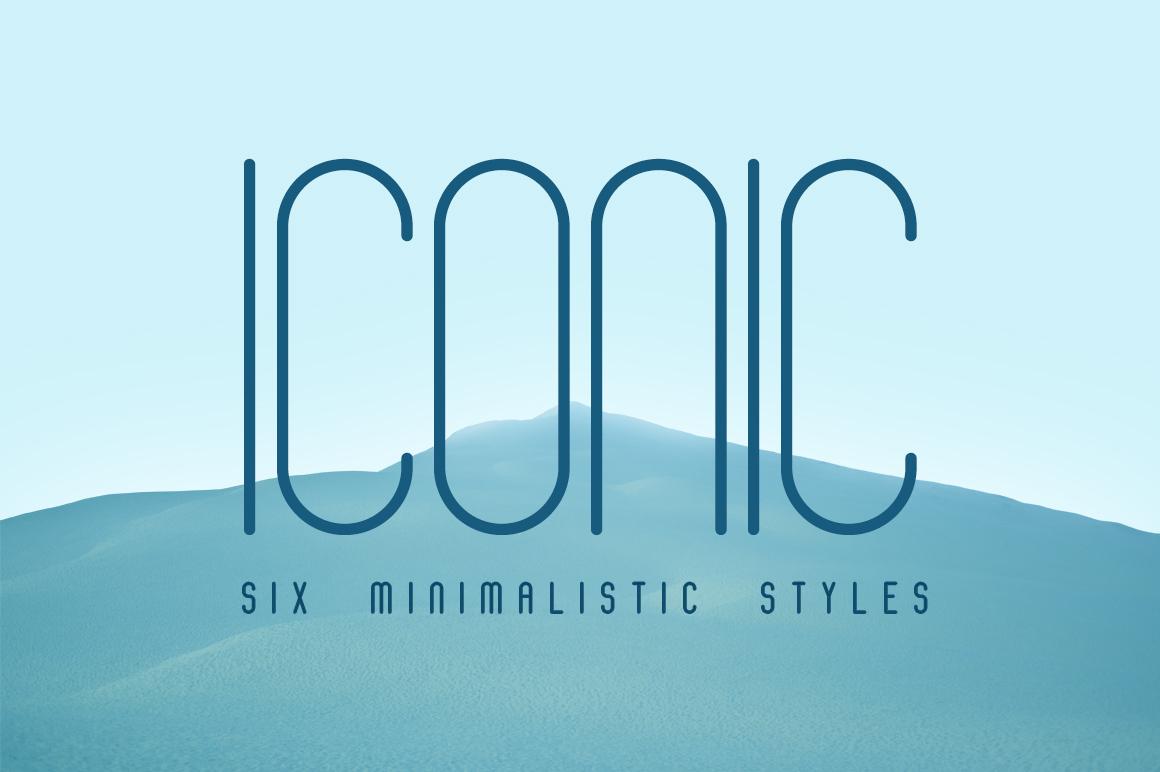 Iconic纤细修长现代扁平化海报logo英文字体下载