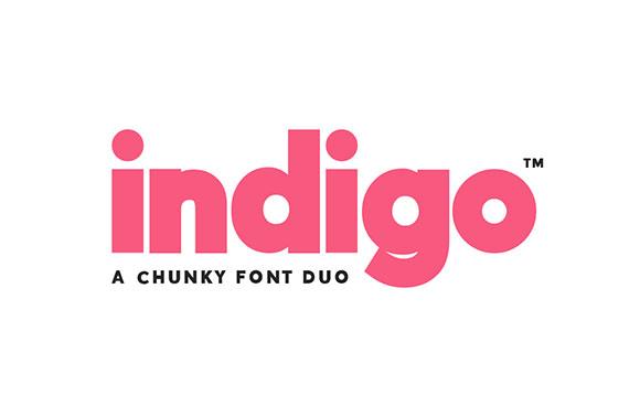 Indigo现代无衬线logo英文字体下载