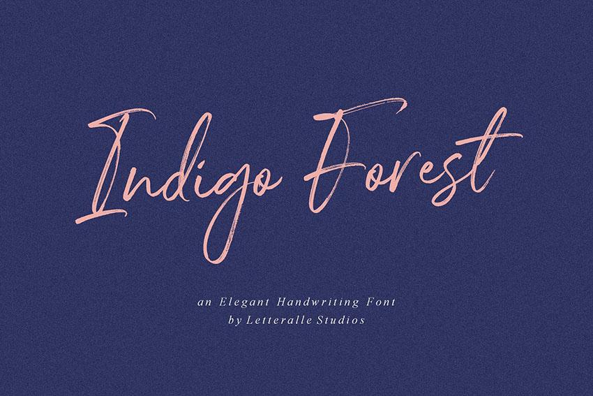 Indigo Forest手写笔触连笔英文字体下载-topimage