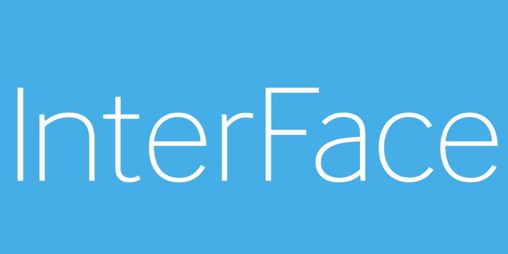 InterFace现代无衬线极简logo英文字体下载