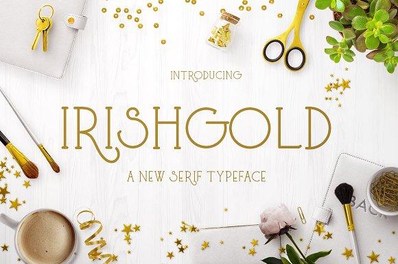 Irishgold手工艺类创意英文字体下载
