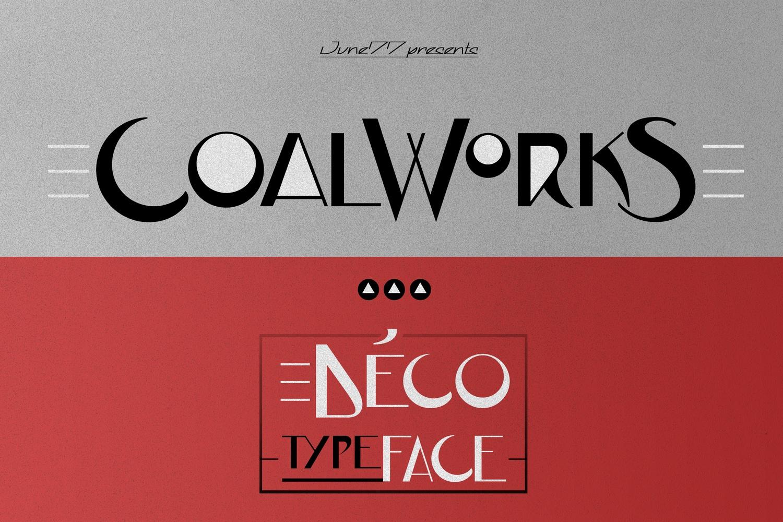 JVNECoalWorksFPU创意时尚logo英文字体下载