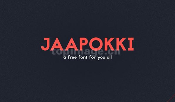 Jaapokki无衬线现代简洁logo大方英文字体