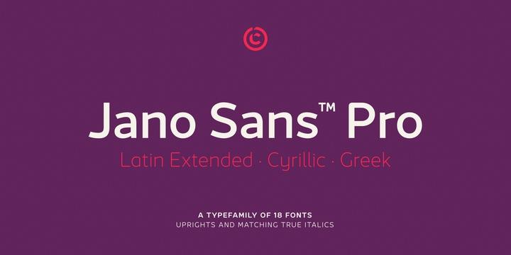 Jano Sans Pro现代无衬线英文字体下载