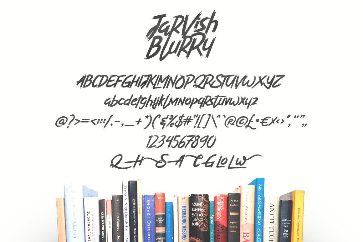 JarvishBlurry个性笔触手写帅气海报英文字体下载