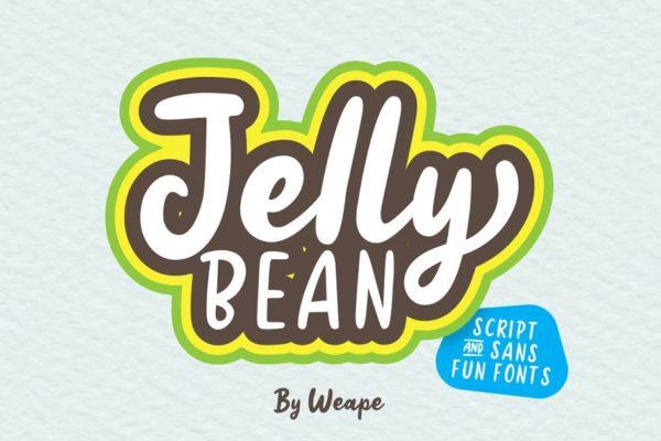 JellyBean标签童装印刷卡通手写英文字体下载