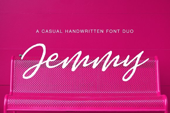 Jemmy婚纱海报手写连笔简约英文字体下载