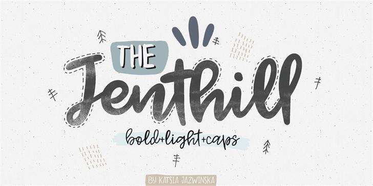 Jenthill时尚趣味海报手绘英文下载