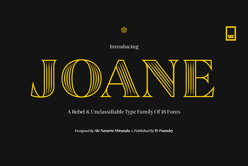 Joane衬线线条logo英文字体下载