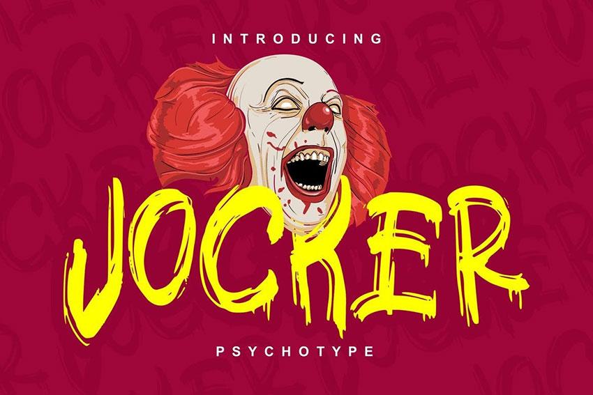 Jocker笔触手写涂鸦海报英文字体下载