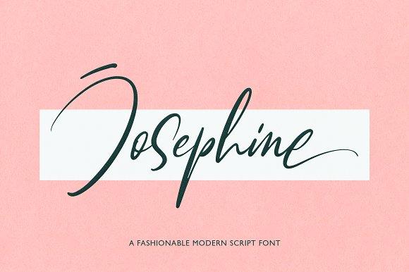 Josephine手写网红艺术签名英文字体下载